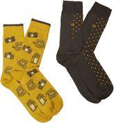 Men's White Stuff Snap shot 2 pack socks