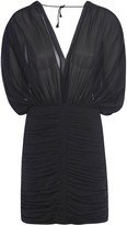 Saint Laurent V-neck Fitted Waist Mid-length Dress