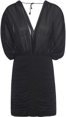 Saint Laurent V-neck Short Dress