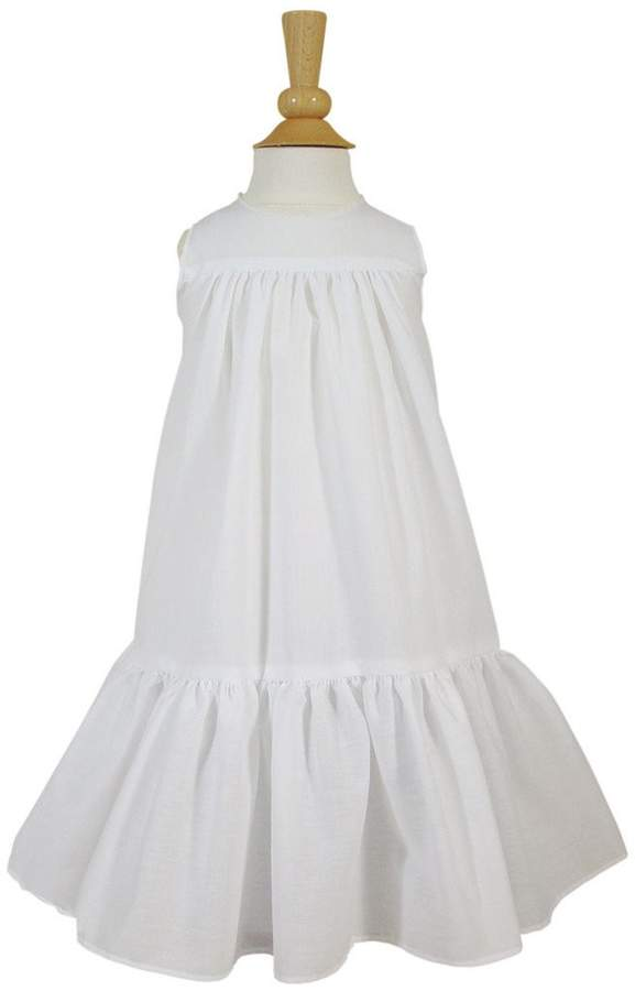 Little Things Mean a Lot Baby Girls Polycotton Christening Slip with Ruffle 12M
