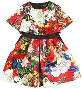 Roberto Cavalli Floral Print Silk Duchesse Dress