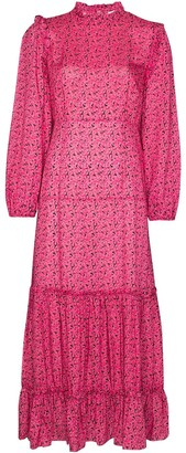 Rixo Monet floral print midi dress
