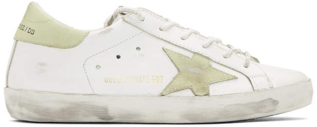 Golden Goose SSENSE Exclusive White Glow-In-The-Dark Friday Superstar Sneakers