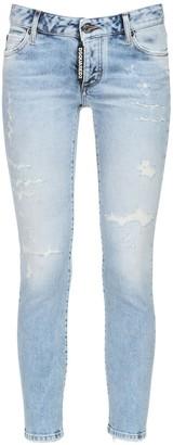 DSQUARED2 Jennifer Distressed Denim Skinny Jeans