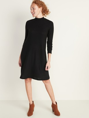 Old Navy Brushed-Knit Mock-Neck Swing Dress for Women