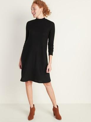 Old Navy Brushed-Knit Mock-Neck Swing Dress for Women