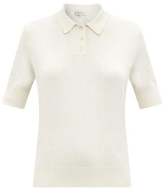Lee Mathews Knitted Cotton-blend Polo Shirt - Ivory