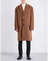 Dries Van Noten Brown Textured Casual Oversized Wool-blend Coat