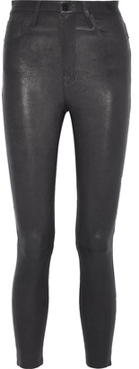 Frame Ali Cropped Leather Skinny Pants