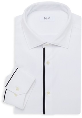 Nhp Trim-Fit Striped Dress Shirt