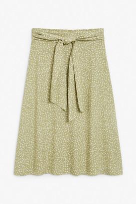 Monki Tie-waist midi skirt