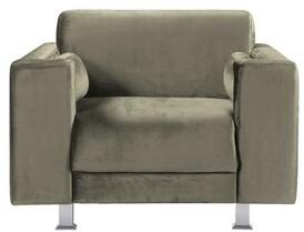 Brayden Studio Woosley Club Chair Fabric: Taupe Velvet