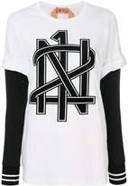 No.21 graphic printed T-shirt