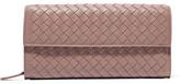 Bottega Veneta Intrecciato Leather Continental Wallet - Blush