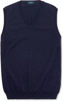 Incotex - Knitted Cotton-blend Sweater Vest