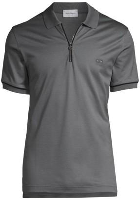 Salvatore Ferragamo Zip Polo T-Shirt