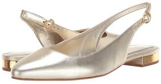 Lilly Pulitzer Ella Slingback Flat (Gold Metallic) Women's Shoes