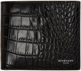 Givenchy Black Croc-Embossed Wallet