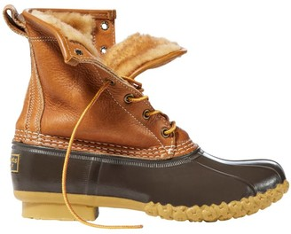 """L.L. Bean Women's Bean Boots by L.L.BeanA, 8"""" Tumbled-Leather Shearling-Lined"""