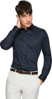 yd. Navy Mission Slim Dress Shirt