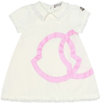 Moncler Enfant Logo stretch-cotton dress