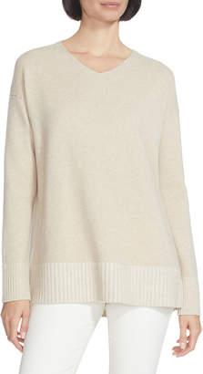 Lafayette 148 New York Cashmere V-Neck Sweater