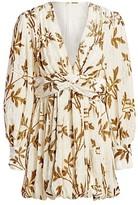 Thumbnail for your product : Dodo Bar Or Anatalya Metallic Floral Silk Velvet V-Neck Dress