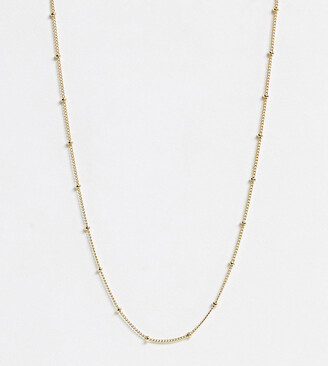 Orelia gold plated satellite single chain