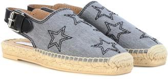 Stella McCartney Embroidered slingback espadrilles