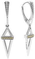 Lagos 18K Gold and Sterling Silver Pyramid Drop Earrings