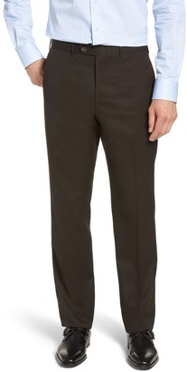 John W. Nordstrom Torino Classic Fit Flat Front Solid Dress Pants