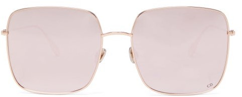 Christian Dior Diorstellaire Square Metal Sunglasses - Gold