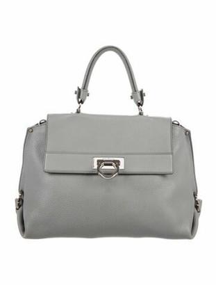 Salvatore Ferragamo Sofia Leather Handle Bag Grey