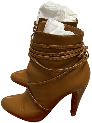 Christian Louboutin Camel Leather Boots