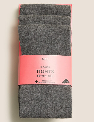 Marks and Spencer 3 Pack of School Tights (2-14 Yrs)