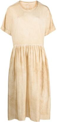 UMA WANG Stained Effect Cotton Dress