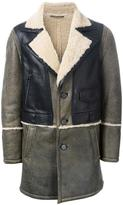Drome panelled shearling coat - men - Leather - L