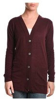 Eleventy Women's Burgundy Wool Cardigan.
