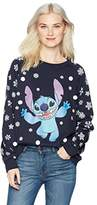 Disney Women's Stitch Christmas Sweater with Embellishments