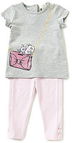 Kate Spade Baby Girls 12-24 Months Graphic-Print Tee and Bow Leggings Set