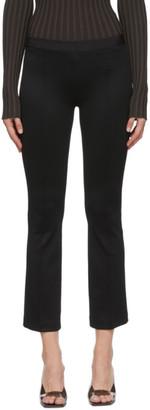 Helmut Lang Black Cropped Flare Rib Pants