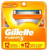 Gillette Fusion® Manual Men's Razor Blade Refills - 12 count