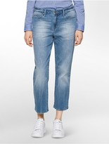 Calvin Klein Straight Leg Ankle Blue Wash Jeans