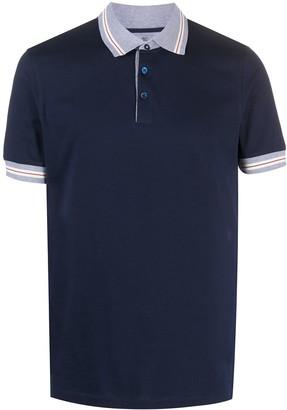 Brunello Cucinelli Stripe Collar Polo Shirt