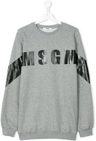 MSGM log print sweatshirt - kids - Cotton - 14 yrs