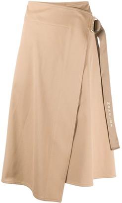 Moncler Buckle Fastening Asymmetric Skirt