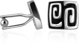 A-Z Collection Silver Plated Square Deco Cufflinks