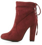 Charlotte Russe Tie-Back Sock Booties