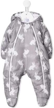 Absorba bunny-print padded snow suit