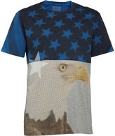 Converse Mens Eagle Collage T-Shirt Vintage Grey Heather